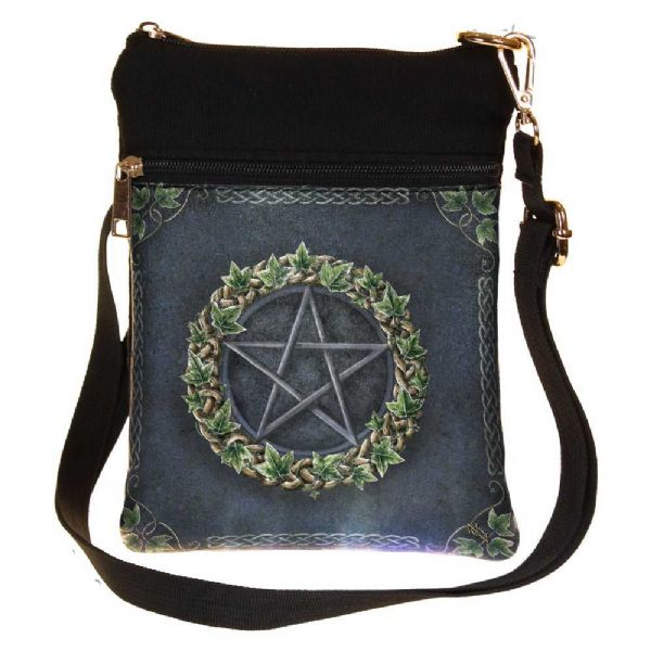 NEMESIS NOW Pagan Ivy Pentagram Shoulder Bag